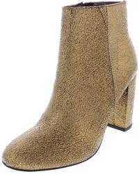 Kensie - Womens Leopolda Metallic Block Heel Ankle Boots - Lyst