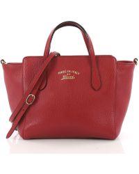 980ca3f4b2cb Gucci - Pre Owned Swing Crossbody Bag Pebbled Leather Mini - Lyst