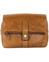 Brunello Cucinelli - Men's Light Brown Leather Wash Bag - Lyst