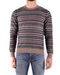 Mauro Grifoni - Men's Brown Wool Sweater - Lyst