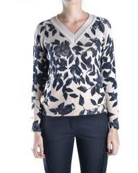 Anna Molinari - Women's Multicolor Wool Sweater - Lyst