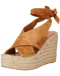 24c23239e58 Marc Fisher - Womens Andira Leather Open Toe Casual Platform Sandals - Lyst
