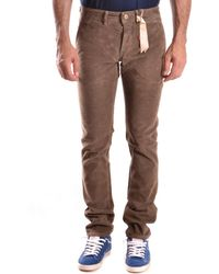 Siviglia | Men's Brown Cotton Trousers | Lyst