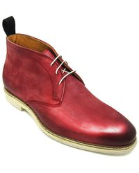 Jose Real - S-i171 Berlina Boot Nobuck Ruby Wine - Lyst