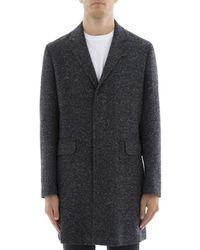 Paolo Pecora   Men's Blue Wool Coat   Lyst