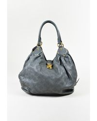"Louis Vuitton - 1 ""anthracite"" Gray Monogram ""mahina"" Leather ""l"" Shoulder Bag - Lyst"