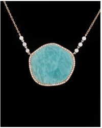 Meira T - 14k Rose Gold & Silver 14.76 Ct. Tw. Diamond & Amazonite Necklace - Lyst