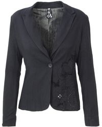 Desigual - Women's Black Viscose Blazer - Lyst