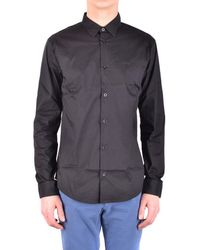 Armani Jeans - Men's Black Cotton Shirt - Lyst
