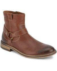 Lucky Brand - Mens Hinton Leather Buckle Boot - Lyst