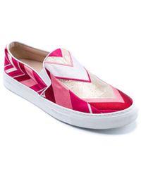 Giambattista Valli - Pink Embroidered Slip-on Sneakers - Lyst