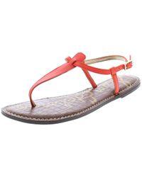 261fb9c2f9b8ea Sam Edelman - Womens Gigi Buckle T-strap Thong Sandals - Lyst