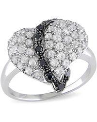 Catherine Malandrino - Diamond Pave Cocktail Ring - Lyst