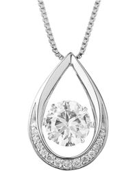 Charles & Colvard - Forever Classic Round 7.5mm Moissanite Pendant Necklace, 1.63cttw Dew - Lyst