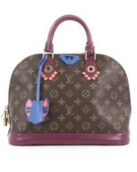 3db430f2916a Louis Vuitton - Pre Owned Alma Handbag Limited Edition Totem Monogram Canvas  Pm - Lyst