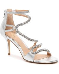 ac0f5b5ae571 Badgley Mischka - Womens Liberty Leather Open Toe Bridal Strappy Sandals -  Lyst