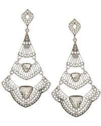 Sparkling Sage - Silver Plated Crystal Earring - Lyst