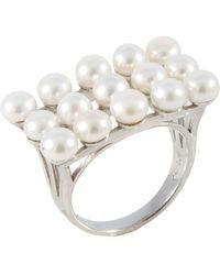Splendid - Fancy Small Pearl Ring Set In Sterling Silver - Lyst