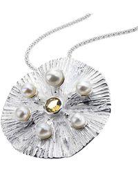Jewelista | Sterling Silver & Quartz Pearl Pendant | Lyst