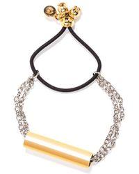 Viviane Guenoun - Bicolor Tube Adjustable Bracelet - Lyst