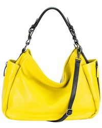 Mofe | Rhapsodic Pebble Leather Hobo-style Shoulder Bag With Padded Top Handle And Adjustable Strap | Lyst