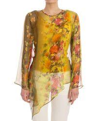 Fuzzi - Women's Yellow Silk Jumper - Lyst