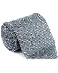 Tom Ford - Mens Lurex Glossy Navy Blue Silk Tie - Lyst