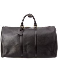 Louis Vuitton   Black Epi Leather Keepall 50   Lyst