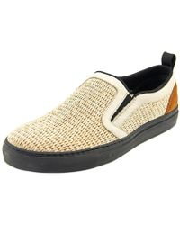 MSGM - 800404192040mso4 Round Toe Canvas Loafer - Lyst