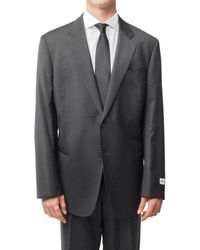 Armani - Men's Two Button Wool Suit Charcoal Grey - Lyst