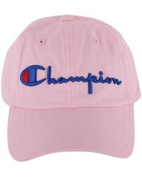 Champion - Women s Pink Cotton Hat - Lyst 19531ce6cd