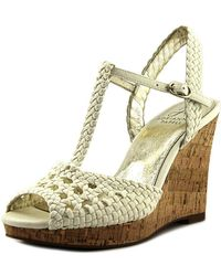 Adrianna Papell - Franklin Women Open Toe Canvas Wedge Sandal - Lyst