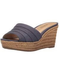 Ralph Lauren - Lauren By Womens Karlia Leather Open Toe Casual Platform Sandals - Lyst