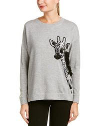 French Connection - Embroidered Giraffe Sweater - Lyst