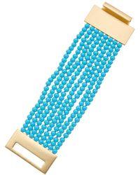 Kenneth Jay Lane - 22k Plated Resin Bracelet - Lyst