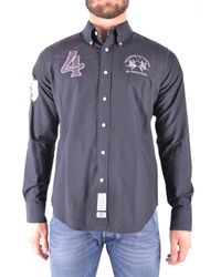 La Martina - Men's Grey Cotton Shirt - Lyst