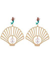 Les Nereides - I Am A Mermaid Shell Earrings - Lyst