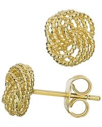 Jewelry Affairs - 14k Yellow Gold Twisted Cable 4 Line Love Knot Type Stud Earrings, 9 X 8mm - Lyst