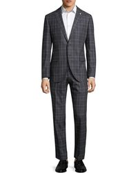 Lubiam - Printed Notch Wool Suit - Lyst