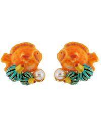 Les Nereides - Exoplanet Little Fish Earrings - Lyst