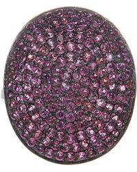 Adornia - Rhodolite Garnet And Sterling Silver Farrah Ii Ring - Lyst