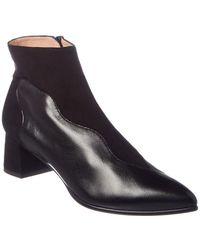 French Sole - Donna Suede Bootie - Lyst