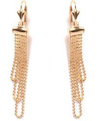 Peermont - Gold Dangling Bead Earrings - Lyst
