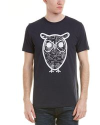 Knowledge Cotton Apparel - Knowledgecotton Owl Diagram T-shirt - Lyst