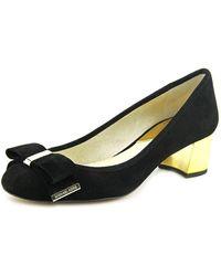 Michael Kors - Womens Kiera Mid Pump Leather Round Toe Mary Jane Pumps - Lyst