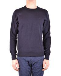 Armani Jeans - Men's Blue Viscose Sweater - Lyst