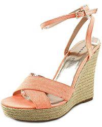Madden Girl - Womens Viicki Canvas Open Toe Casual Platform Sandals - Lyst