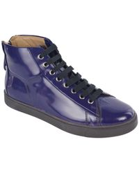 Gianvito Rossi - Purple Patent Leather Lace Up High Top Trainers - Lyst