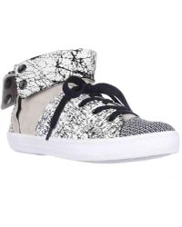 Rebecca Minkoff - Spencer Foldover Sneakers - Creme/black - Lyst