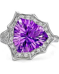Tia Collections - Amethyst Star Ring In Sterling Silver - Lyst